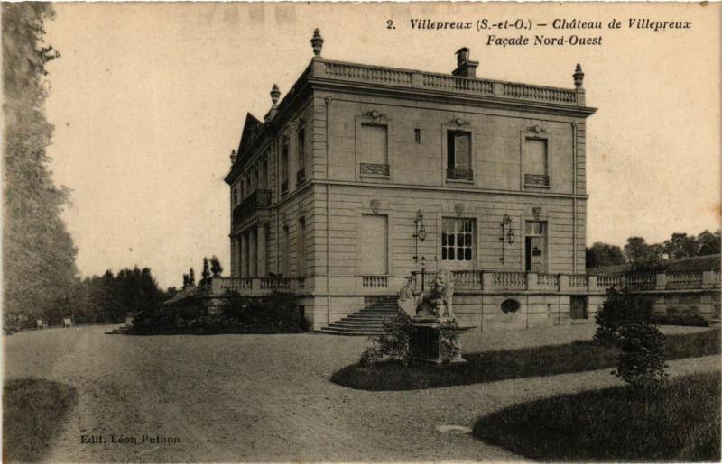 Carte postale ancienne Villepreux - Chateau de Villepreux - Facade Nord-Ouest à Villepreux