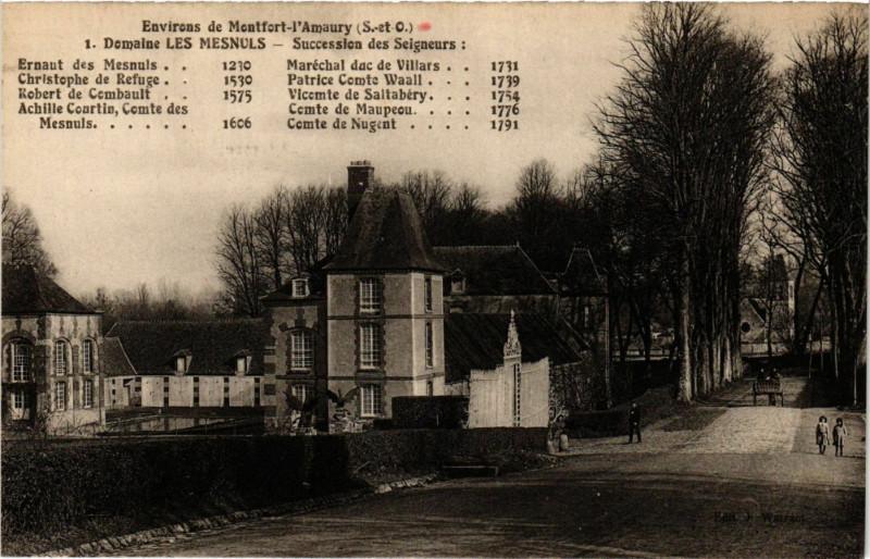 Carte postale ancienne Env. de Montfort - l'Amaury - Domaine les Mesnuls aux Mesnuls