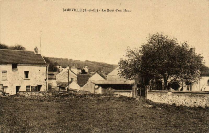 Carte postale ancienne Jambville-Le Bout d'en Haut à Jambville