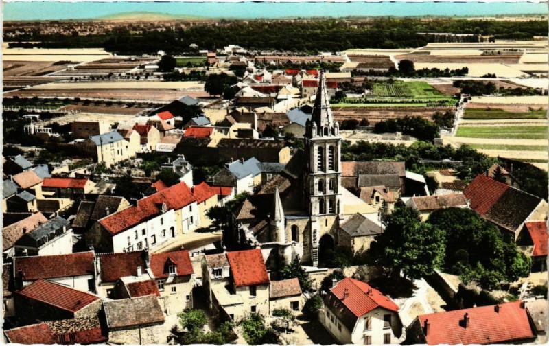 Carte postale ancienne En avion au-dessus de Cergy à Cergy