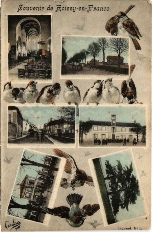 Carte postale ancienne Souvenir de Roissy-en-France à Roissy-en-France