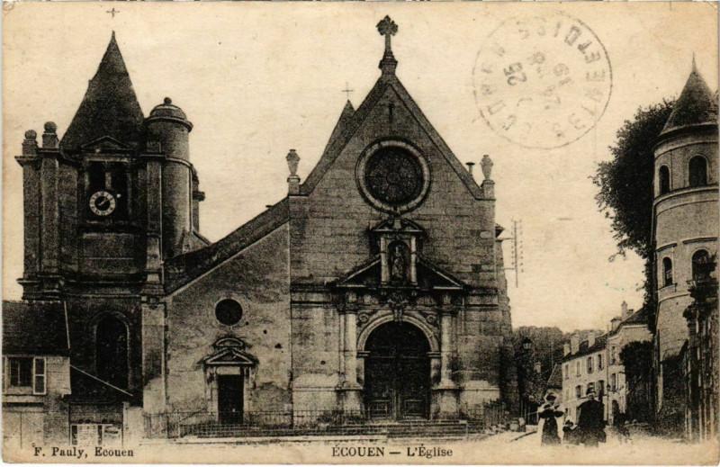 Carte postale ancienne Ecouen - L'Eglise à Écouen