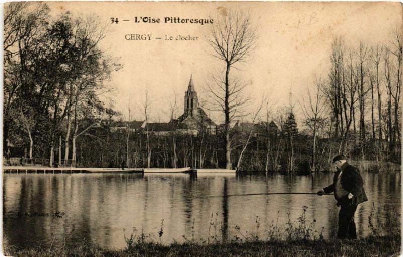 Carte postale ancienne L'Oise Pittoresque - Cergy - Le Clocher à Cergy