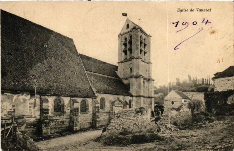 Carte postale ancienne Eglise de Vauréal à Vauréal