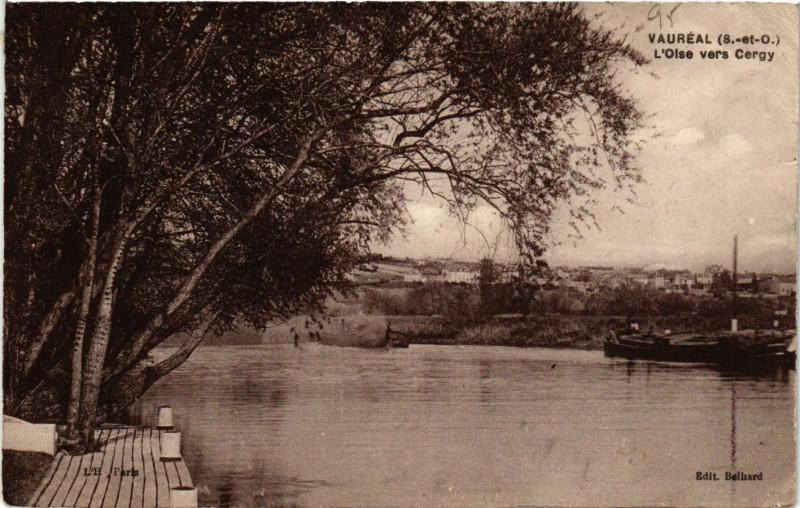 Carte postale ancienne Vauréal (S.-et-O.) - L'Oise vers Cargy à Vauréal