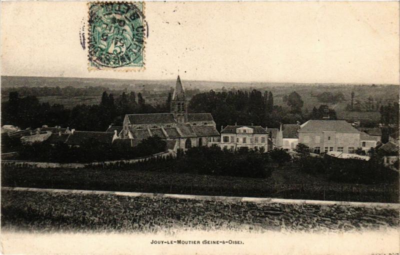 Carte postale ancienne Jouy-le-Moutier (Seine-&-Oise) à Jouy-le-Moutier