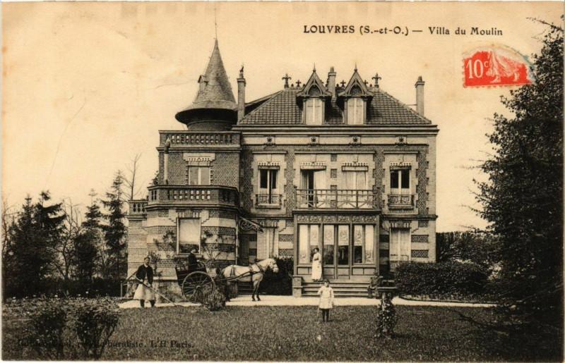 Carte postale ancienne Louvres (S.-et-O.) - Villa du Moulin à Louvres