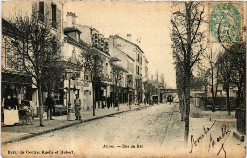 Carte postale ancienne Ablon Rue du Bac
