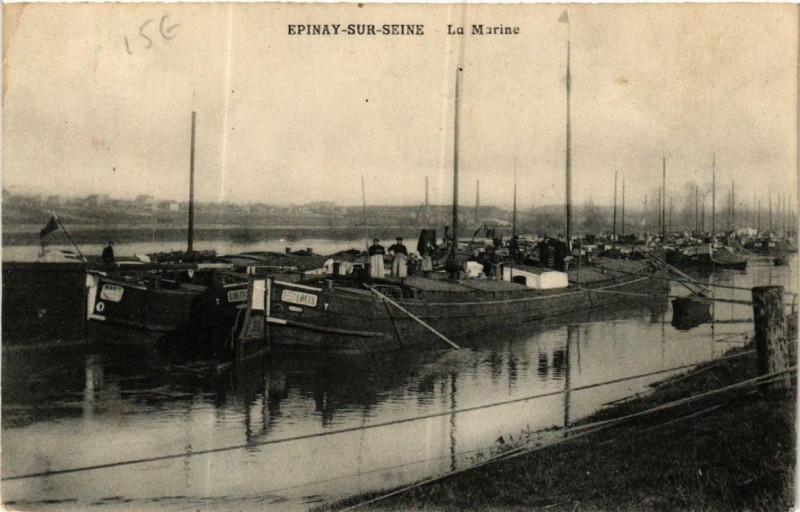Carte postale ancienne Epinay-sur-Seine La Marine à Épinay-sur-Seine