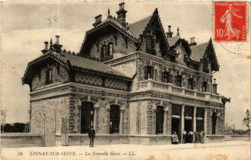Carte postale ancienne Epinay-sur-Seine La Nouvelle Gare à Épinay-sur-Seine