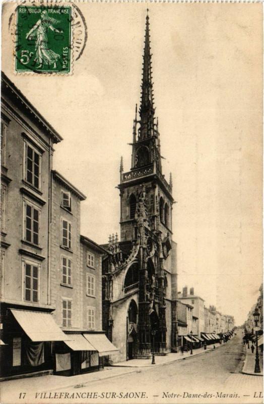 Carte postale ancienne Villefranche-sur-Saone - N.-D.-des-Marais à Villefranche-sur-Saône