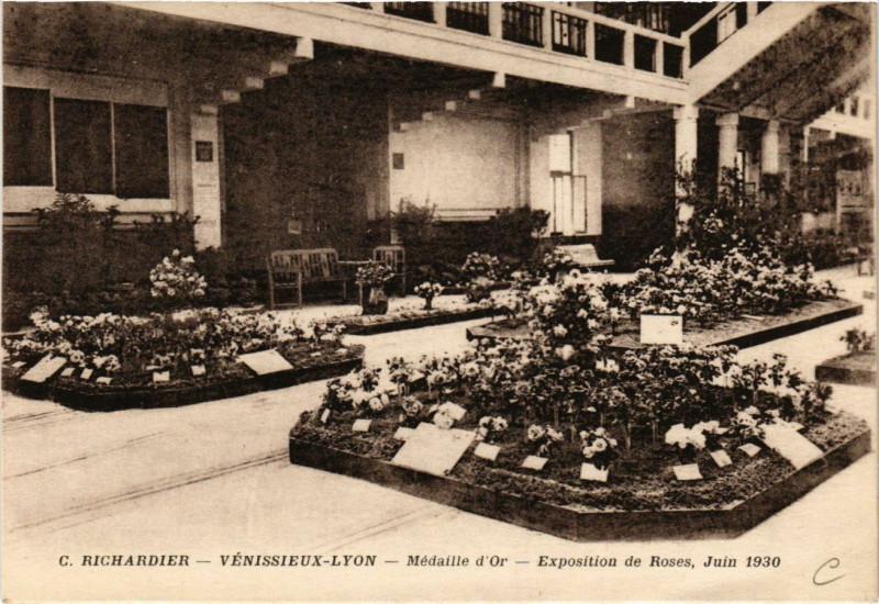 Carte postale ancienne Venissieux - Lyon - Expo de Roses 1930 à Vénissieux