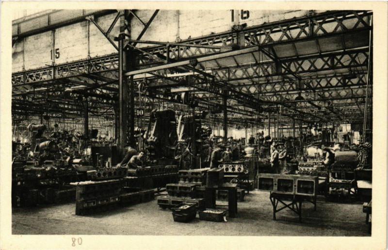 Carte postale ancienne Venissieux - Usines Berliet - Ateliers Usinage à Vénissieux