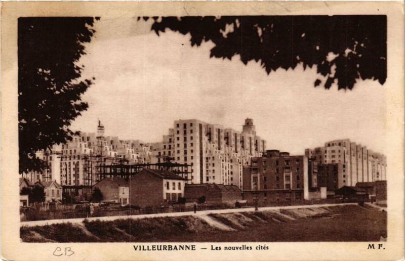 Carte postale ancienne Villeurbanne Les nouvelles cites à Villeurbanne