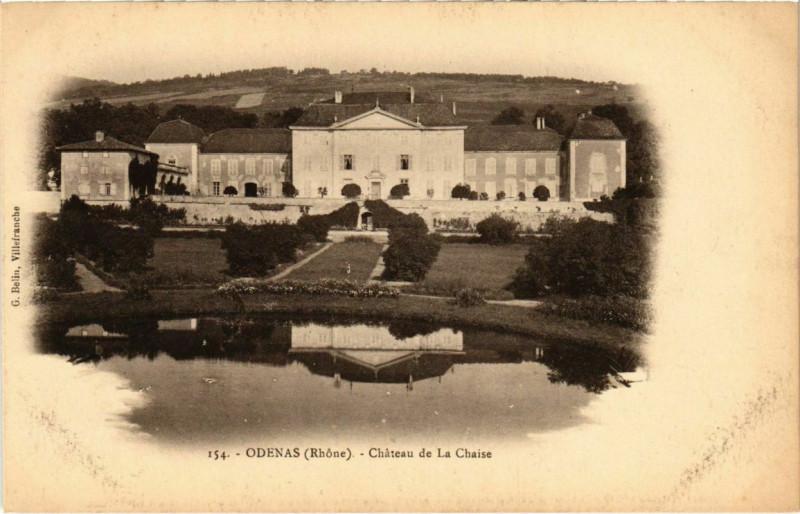 Carte postale ancienne Odenas - Chateau de La Chaise à Odenas