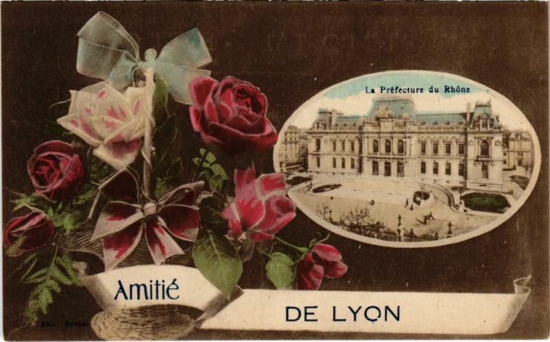 Carte postale ancienne Lyon- souvenir France à Lyon