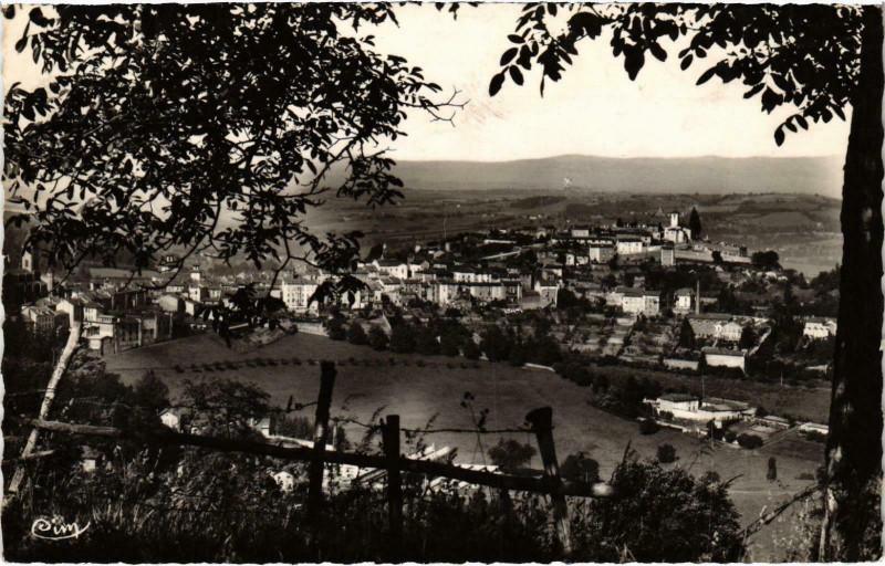 Carte postale ancienne Thizy Vue générale Rhone à