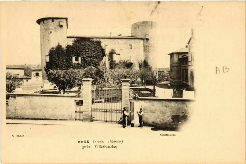 Carte postale ancienne Anse Vieux Chateau à Anse