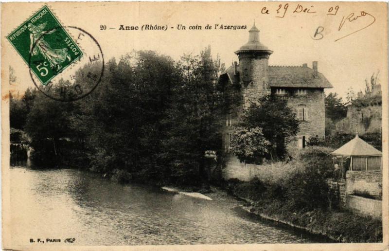 Carte postale ancienne Anse Un coin de l'Azergues à Anse