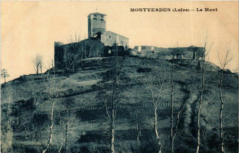 Carte postale ancienne Montverdun - Le Mont France à Montverdun