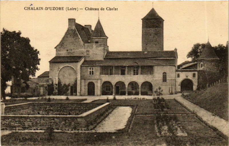 Carte postale ancienne Chalain-d'Uzore - Chateau de Cholat France à Chalain-d'Uzore