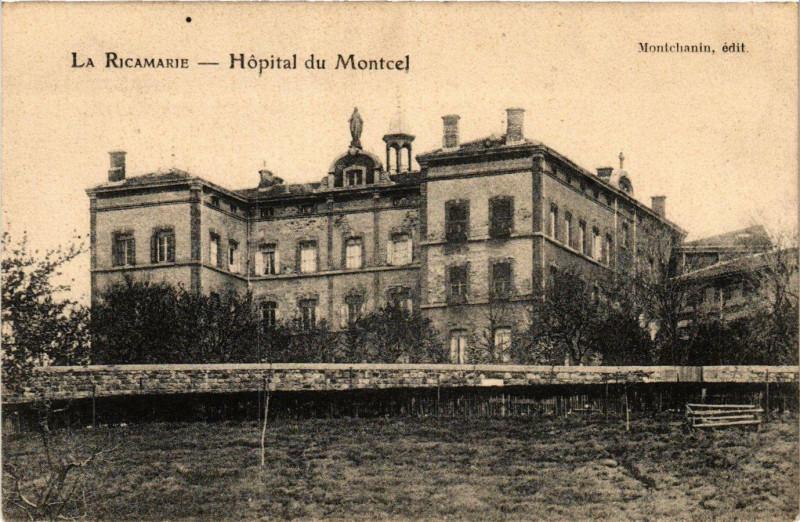 Carte postale ancienne La Ricamarie- Hopital du Montcel à La Ricamarie