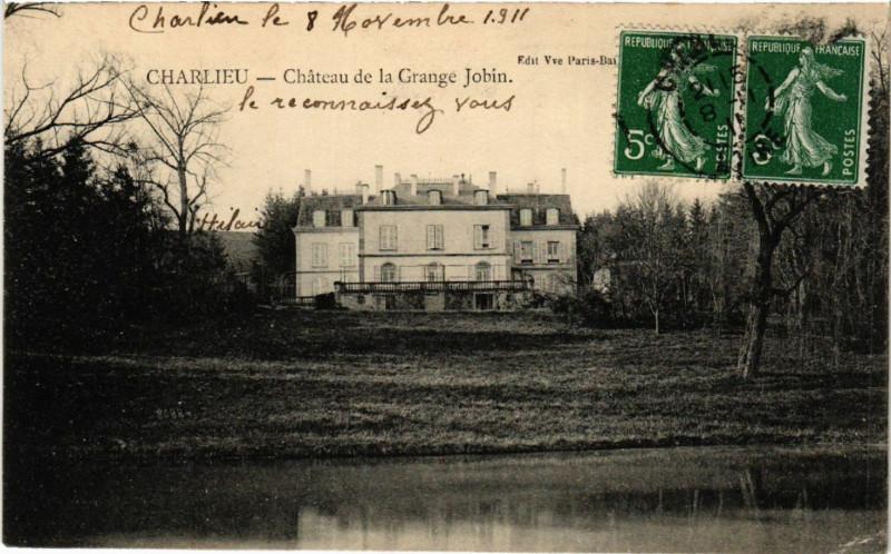 Carte postale ancienne Charlieu - Chateau de la Grange Jobin à Charlieu