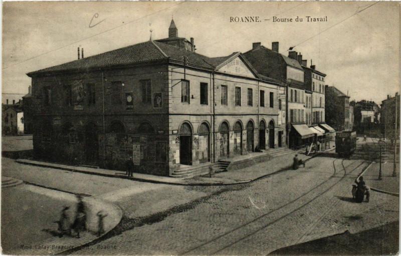 Carte postale ancienne Roanne Bourse du Travail à Roanne