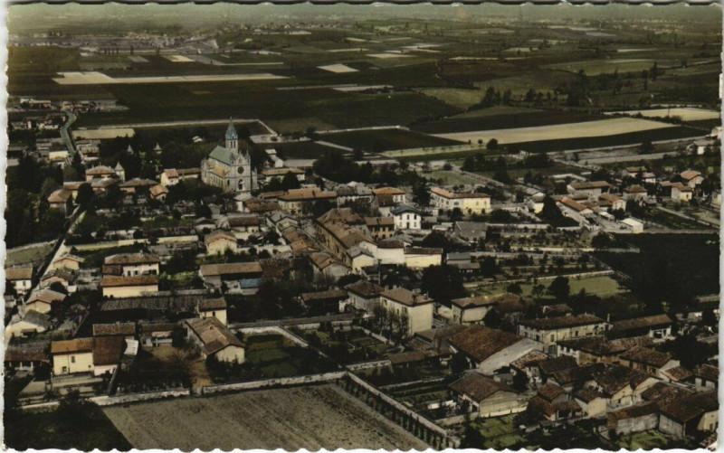 Carte postale ancienne Genas - Vue générale aerienne