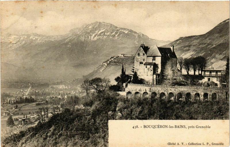 Carte postale ancienne Bouqueron-les-Bains - Panorama - pres Grenoble France à Grenoble