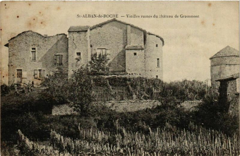 Carte postale ancienne Saint-Alban-de-Roche - Ruines du Chateau de Grammont France à Saint-Alban-de-Roche