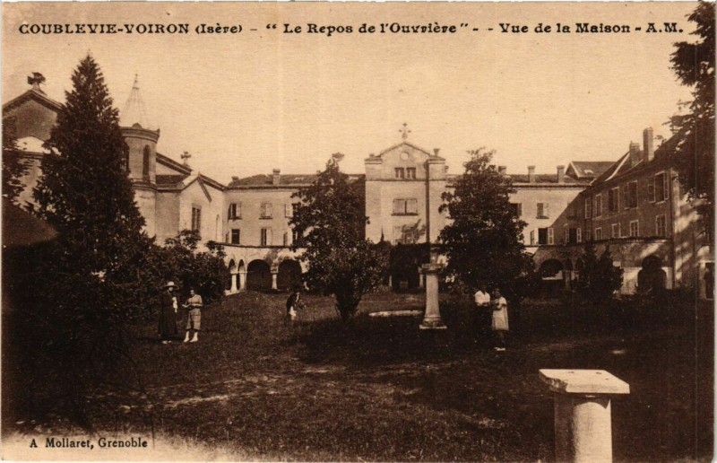 Carte postale ancienne Coublevie - Voiron - Le Repos de l'Ouvriere - Vue de la à Coublevie