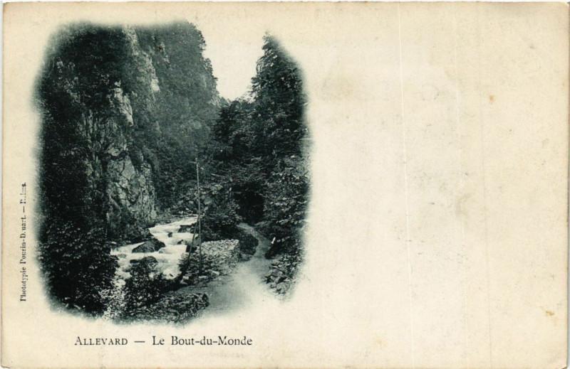 Carte postale ancienne Allevard - Le Bout du Monde à Allevard