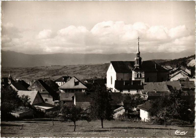 Carte postale ancienne Cruseilles Eglise à Cruseilles
