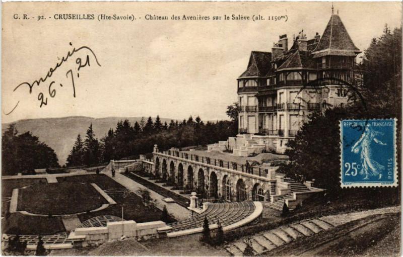 Carte postale ancienne Cruseilles - Chateau des Avenieres sur le Saleve à Cruseilles