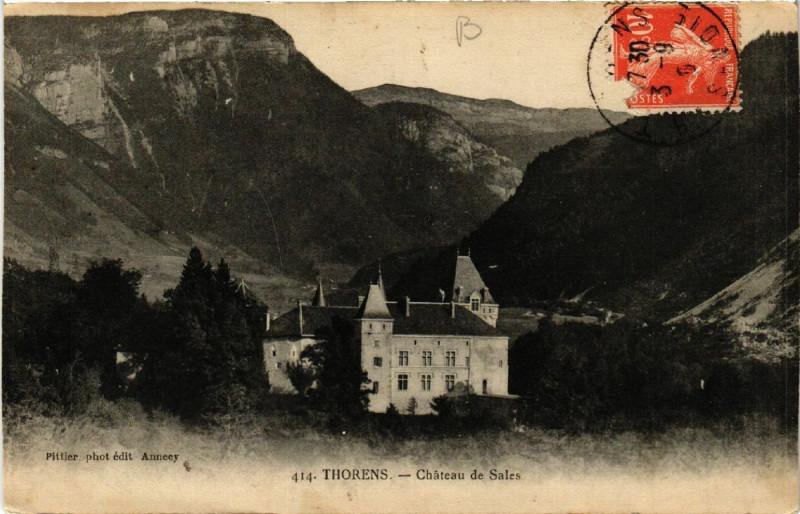Carte postale ancienne Thorens - Chateau de Sales à Sales