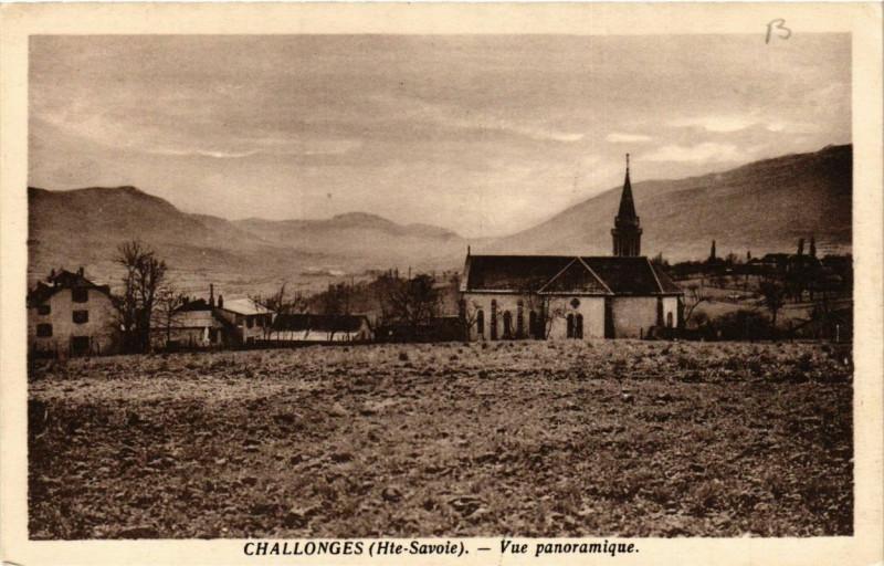 Carte postale ancienne Challonges Vue panoramique à Challonges
