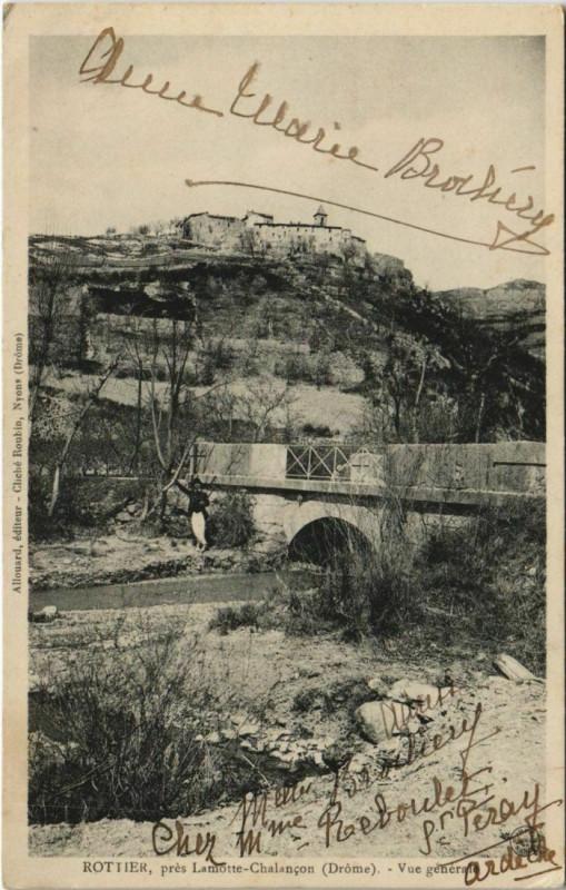 Carte postale ancienne Rottier Vue generale France à Rottier