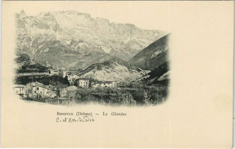 Carte postale ancienne Romeyer Le Glandaz France à Romeyer