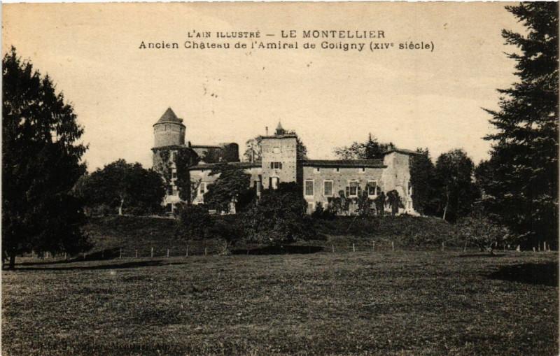 Carte postale ancienne Le Montellier Ancien Chateau de l'Amiral de Coligny à Coligny