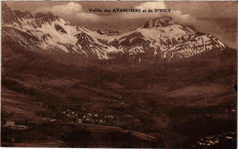 Carte postale ancienne Vallée des AVANCHERSet de Doucy
