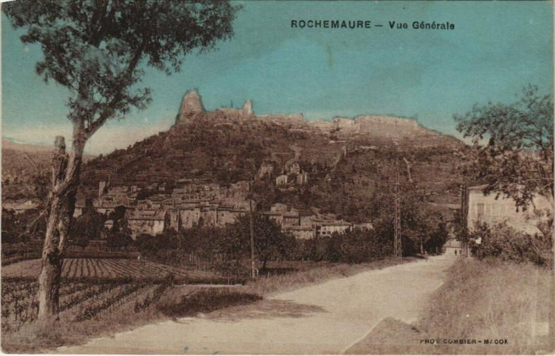 Carte postale ancienne Rochemaure - Vue générale à Rochemaure