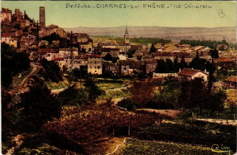 Carte postale ancienne Charmes-sur-Rhone - Vue générale à Charmes-sur-Rhône