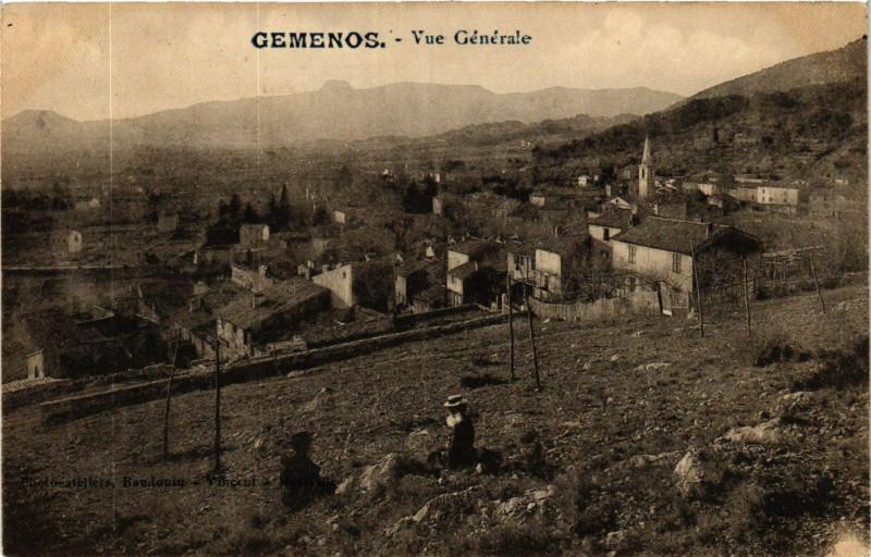 Carte postale ancienne Gemenos Vue générale à Gémenos