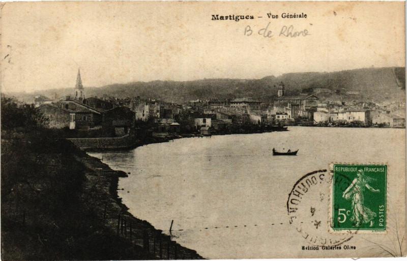 Carte postale ancienne Martigues Vue générale à Martigues