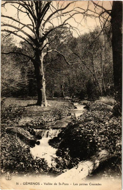 Carte postale ancienne Gemenos - Les Petites Cascades à Gémenos