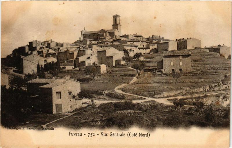 Carte postale ancienne Fuveau - Vue générale à Fuveau