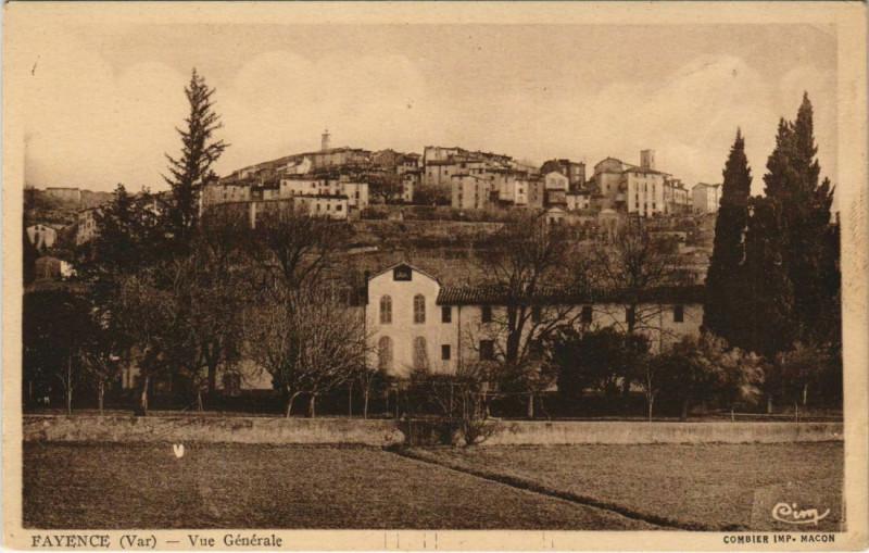 Carte postale ancienne Fayence Vue Generale à Fayence