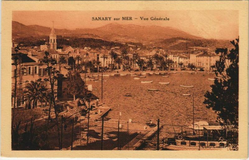 Carte postale ancienne Sanary Vue Generale France à