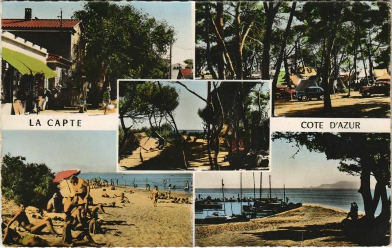 Carte postale ancienne La Capte Presqu'Ile-de-Giens - Scenes à